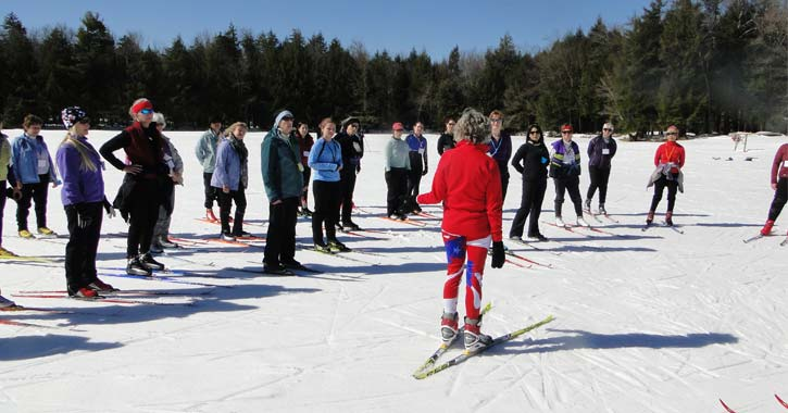 ladies cross country skiing group