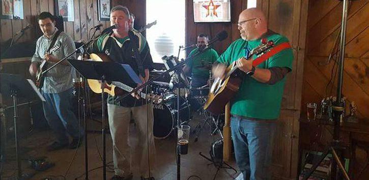 an irish band on stage