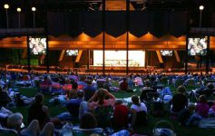 audience at spac in the evening