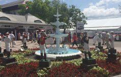 fountain at saratoga race course entrance