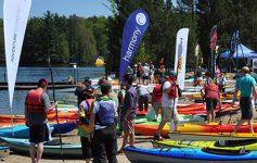 paddle demos on shore