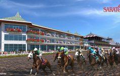 rendering of building near horse racetrack
