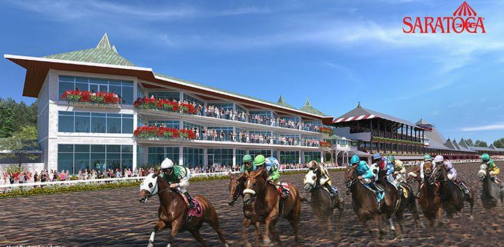 rendering of building near horse racetrack