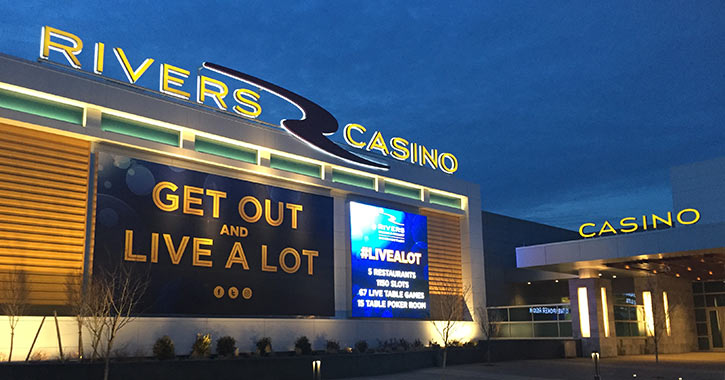 the front of rivers casino