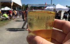 beer tasting glass in hand