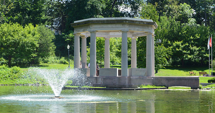 fountain in a park