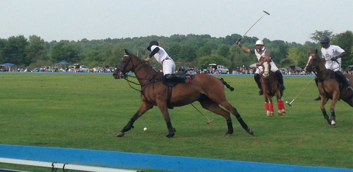 a polo match going on