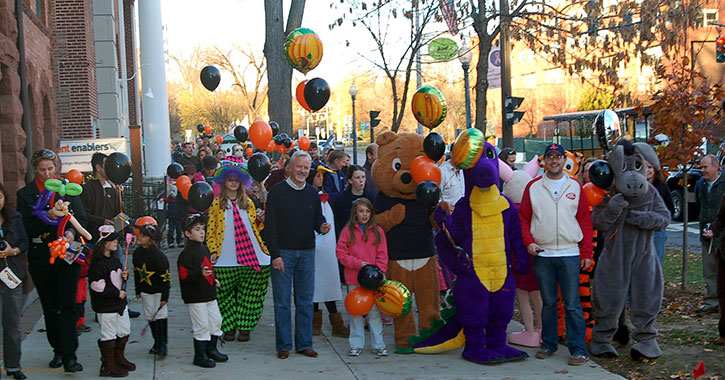 crowd at a fall festival