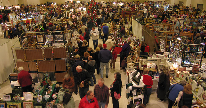 people shopping in marketplace
