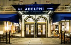 entrance to the Adelphi Hotel