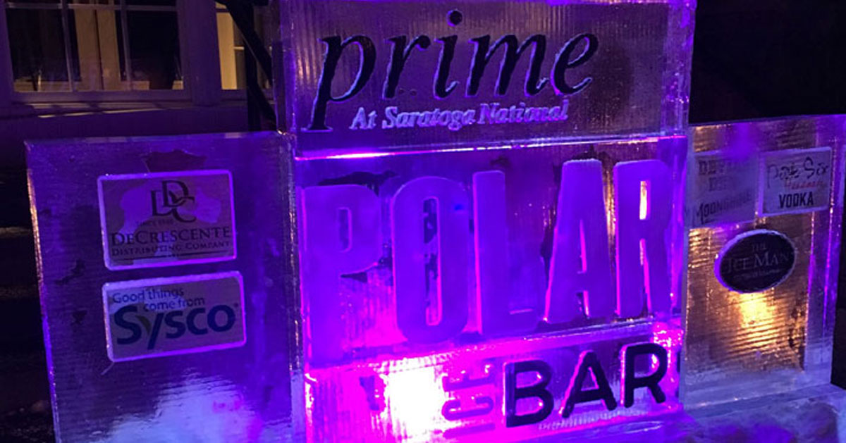 Prime Polar Ice Bar sculpture