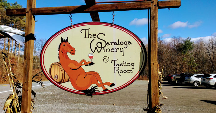 Saratoga Winery sign
