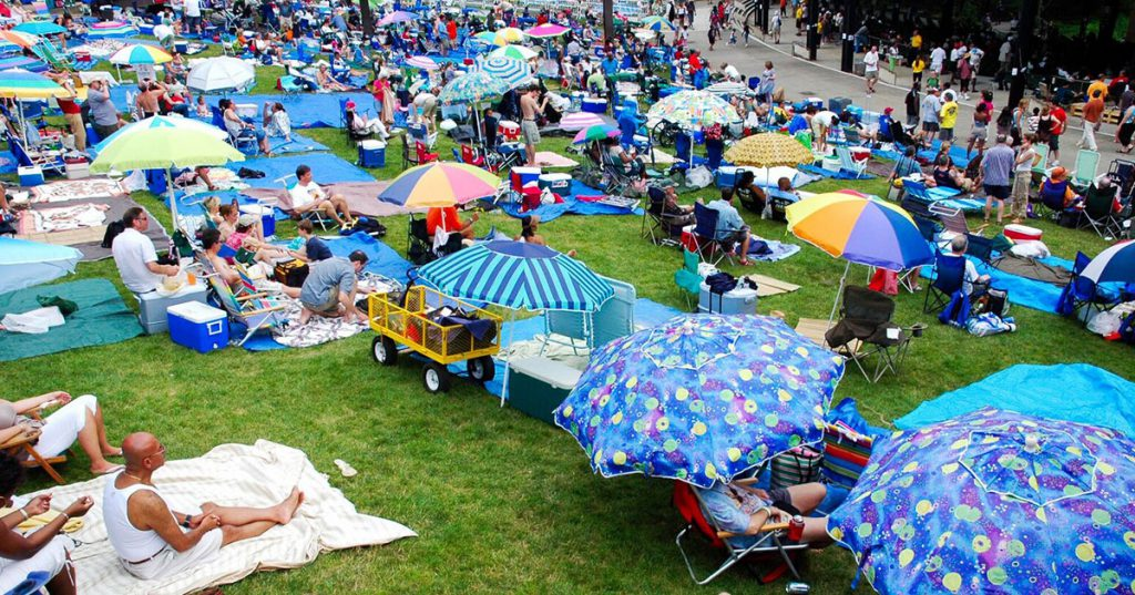 jazz lawn audience