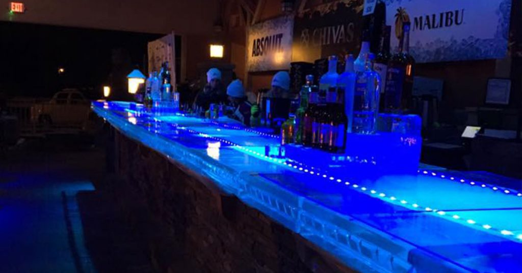 cool blue ice bar
