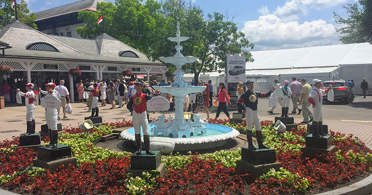 fountain at race track