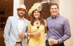 three people at a derby party