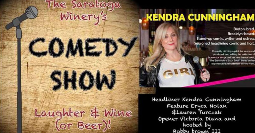 saratoga winery comedy show ad