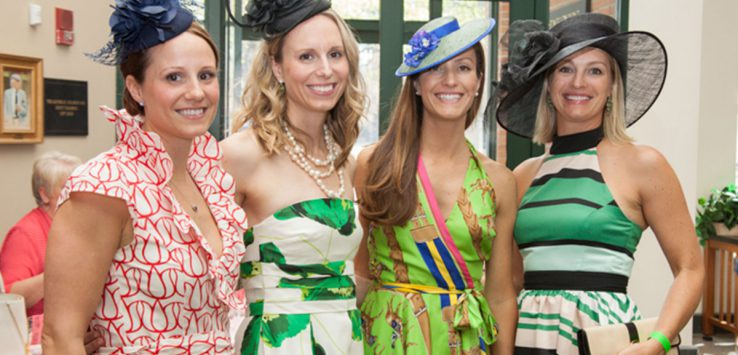 women dressed for derby party
