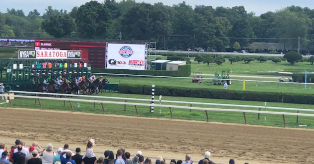 horse race at the track