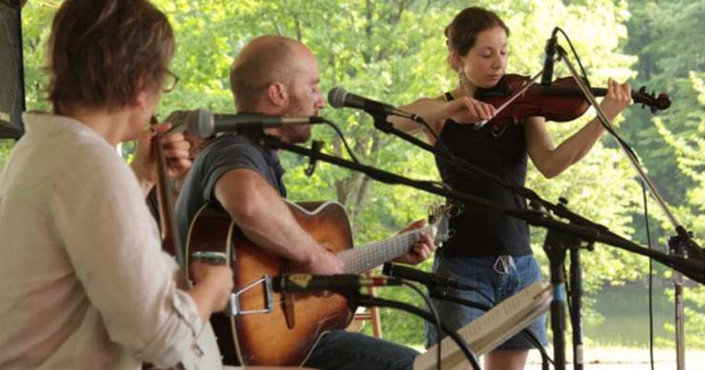 musicians playing outdoors