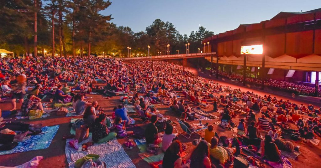 lawn crowd at spac