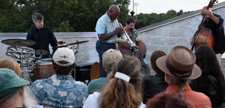 concert on a rooftop