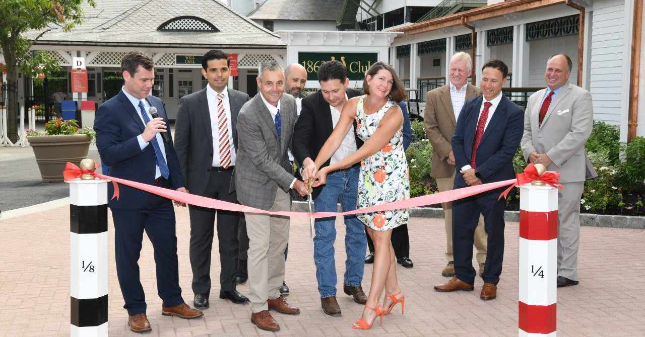 ribbon cutting at the opening of the 1863 Club
