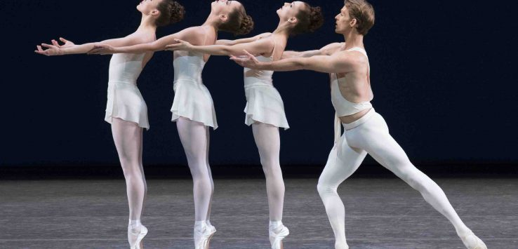 four dances perform on stage at SPAC