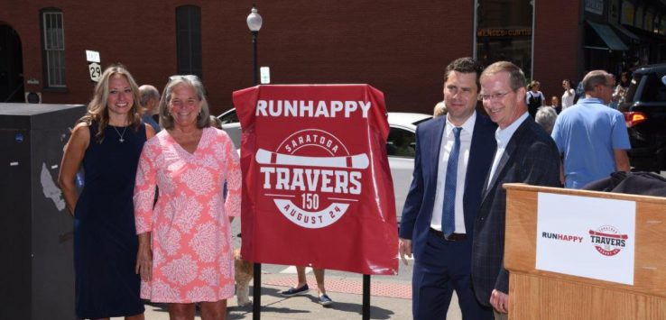 officials unveil the travers 150 banners that will line broadway