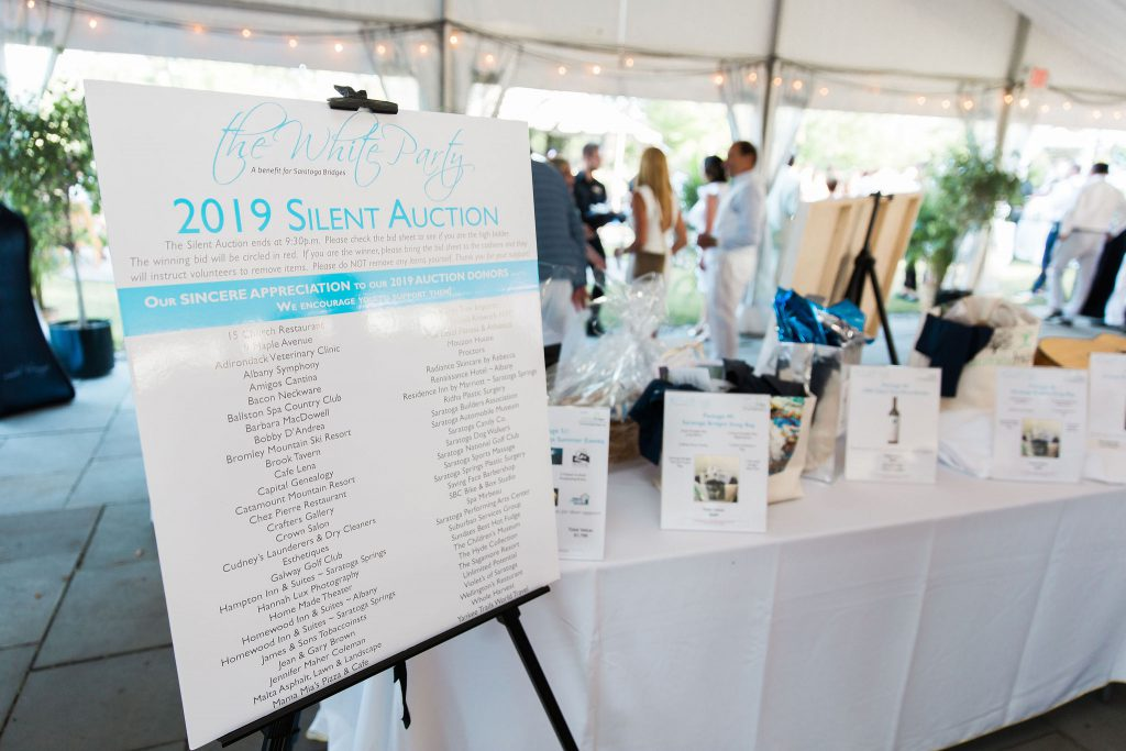 Silent Auction Items At The White Party