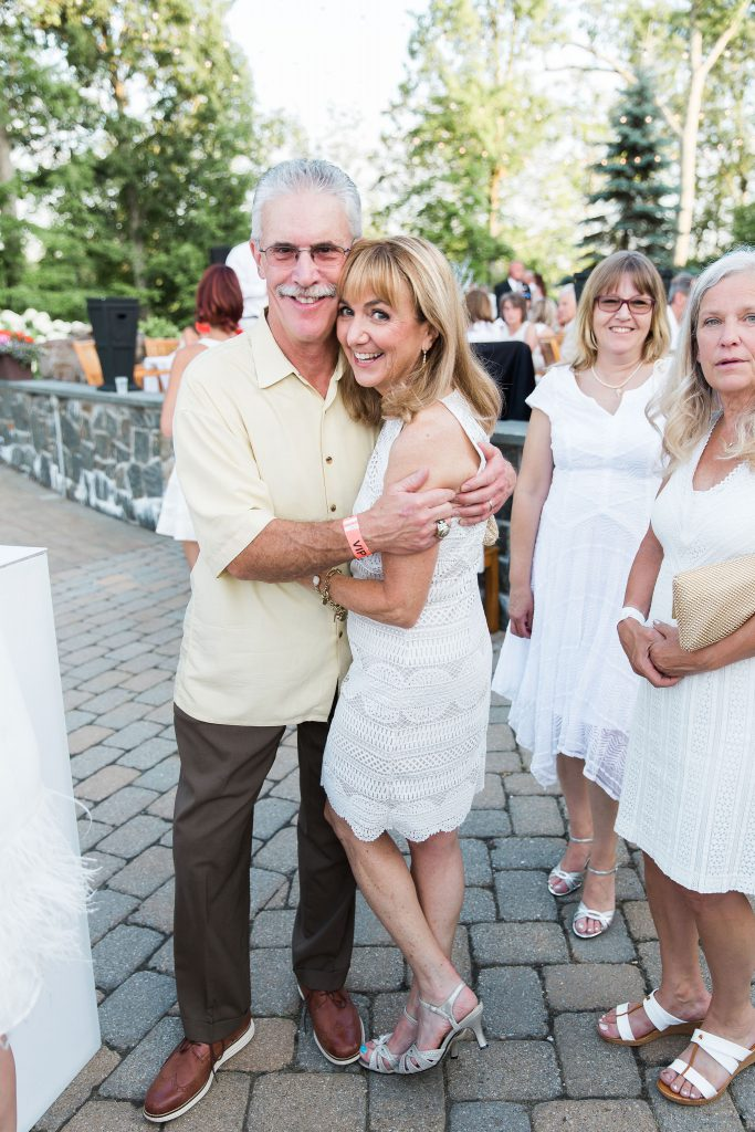 Benita Zahn and The White Party Attendees