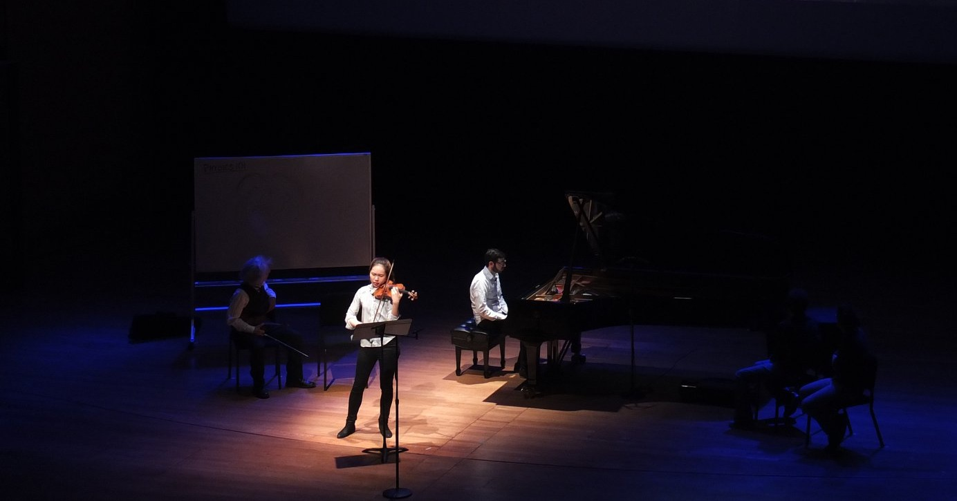 quartet playing in meet the music