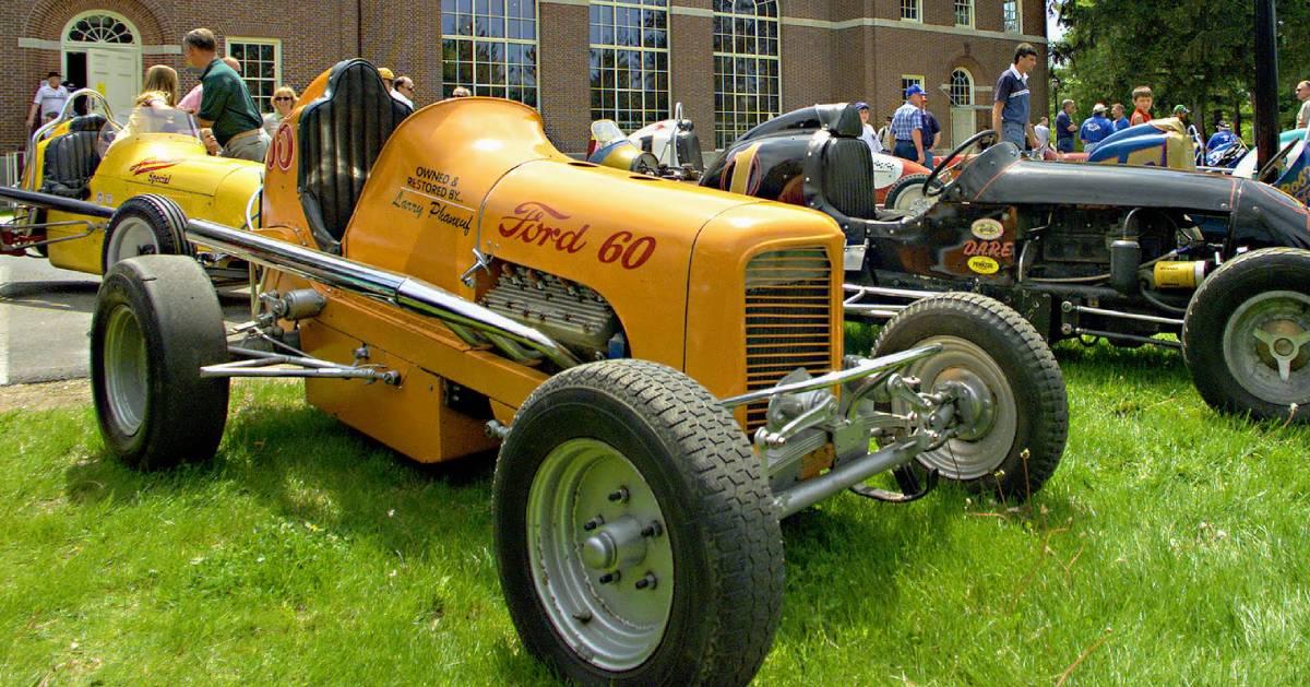 car show on lawn