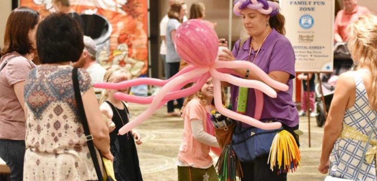 balloon artist and kid