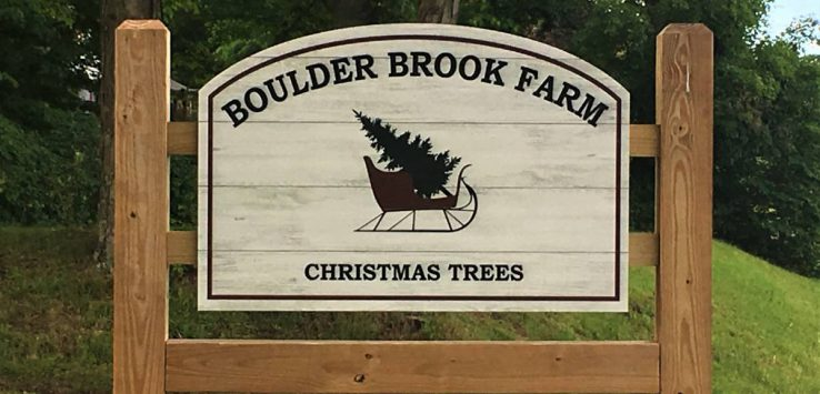 boulder brook farm sign