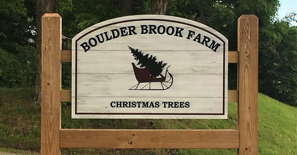 boulder brook farm sign