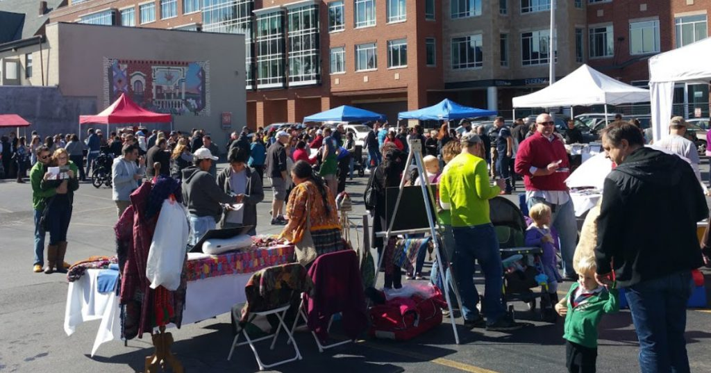 crowd outdoors at food festival