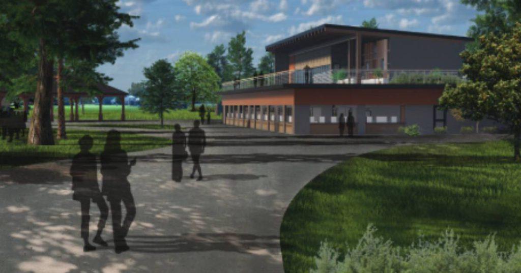 rendering of new spac building
