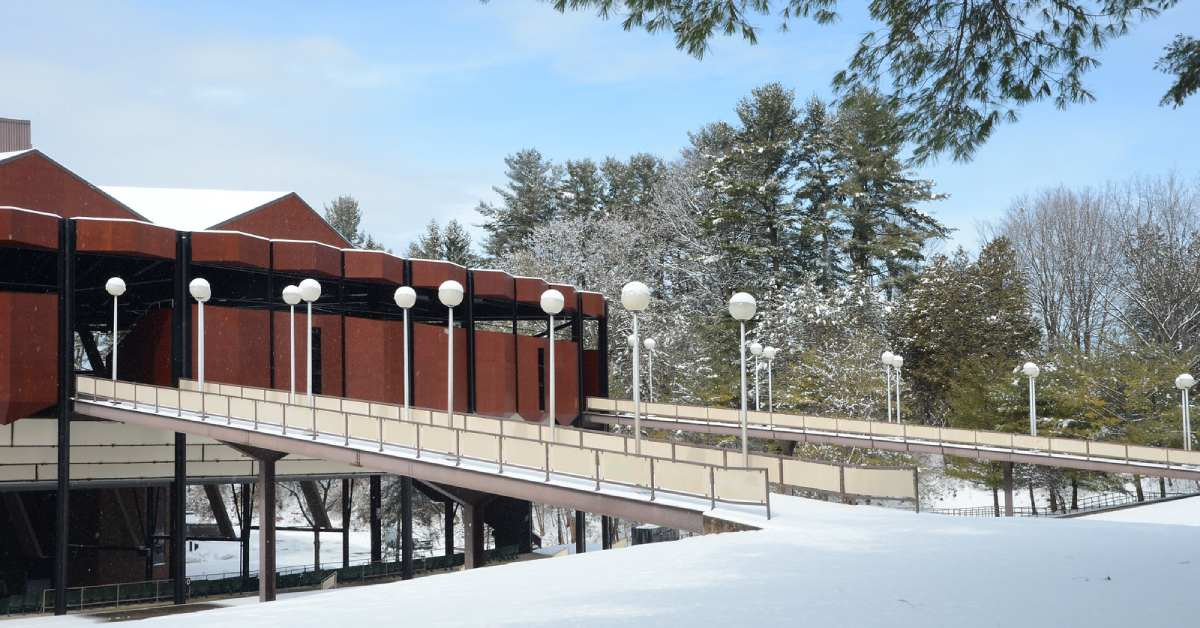 spac covered in snow