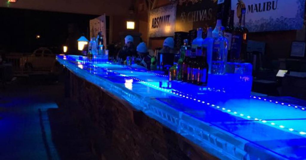 blue ice bar