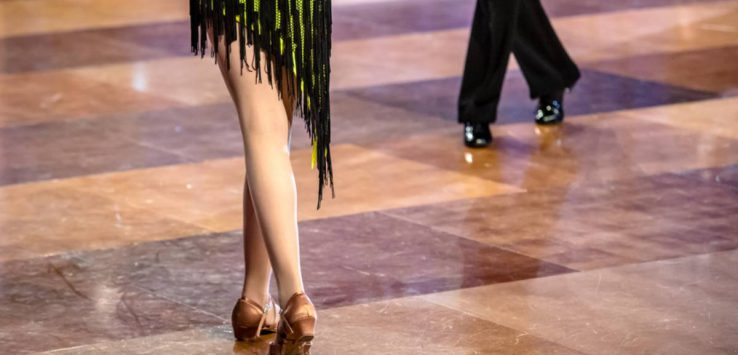 view of dancers legs