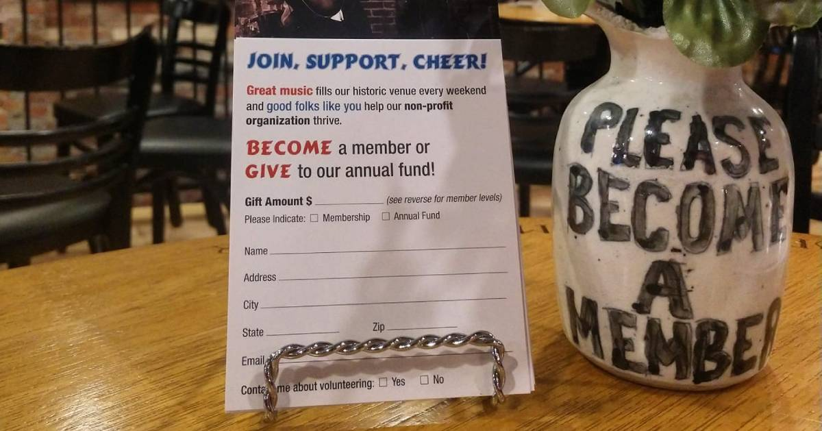 member form and sign for Caffe Lena