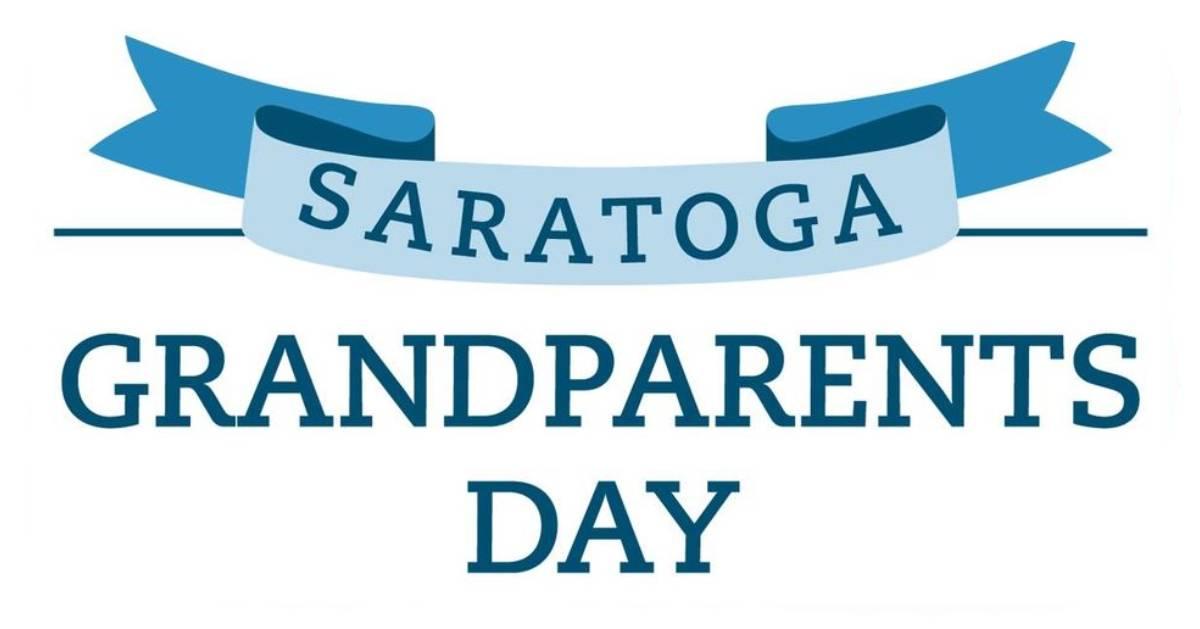 logo that reads saratoga grandparents day