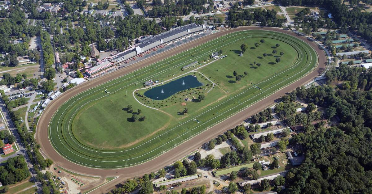 aerial view of racetrack