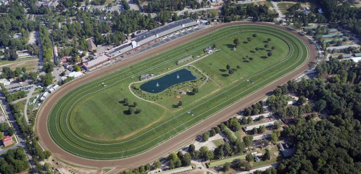aerial view of saratoga race course