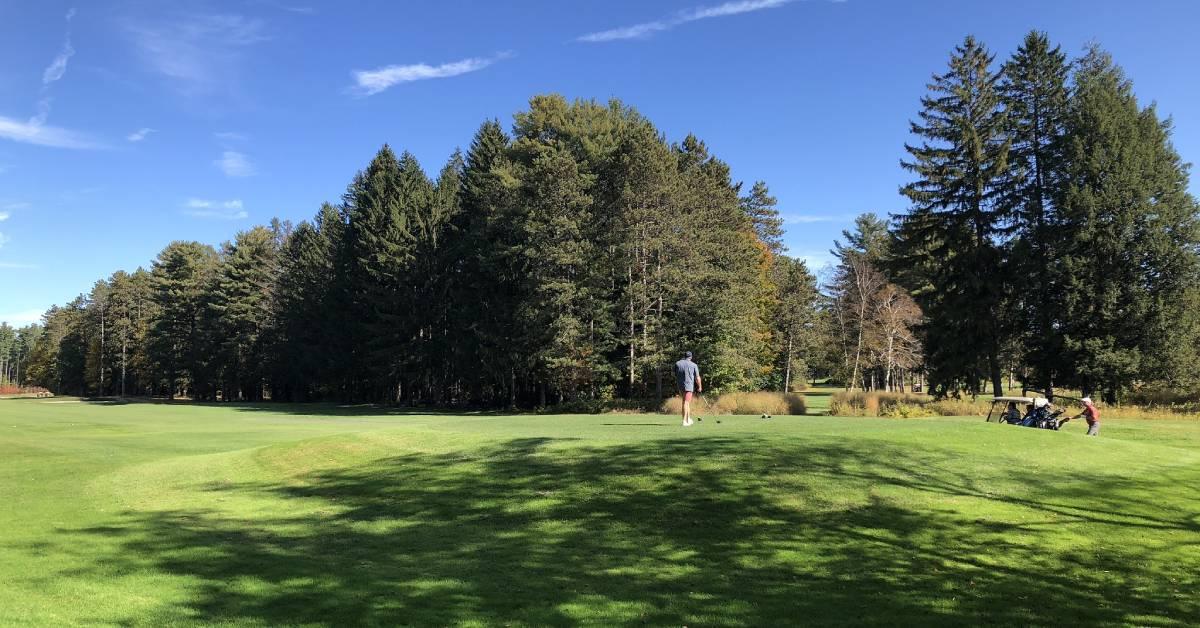 a golf course