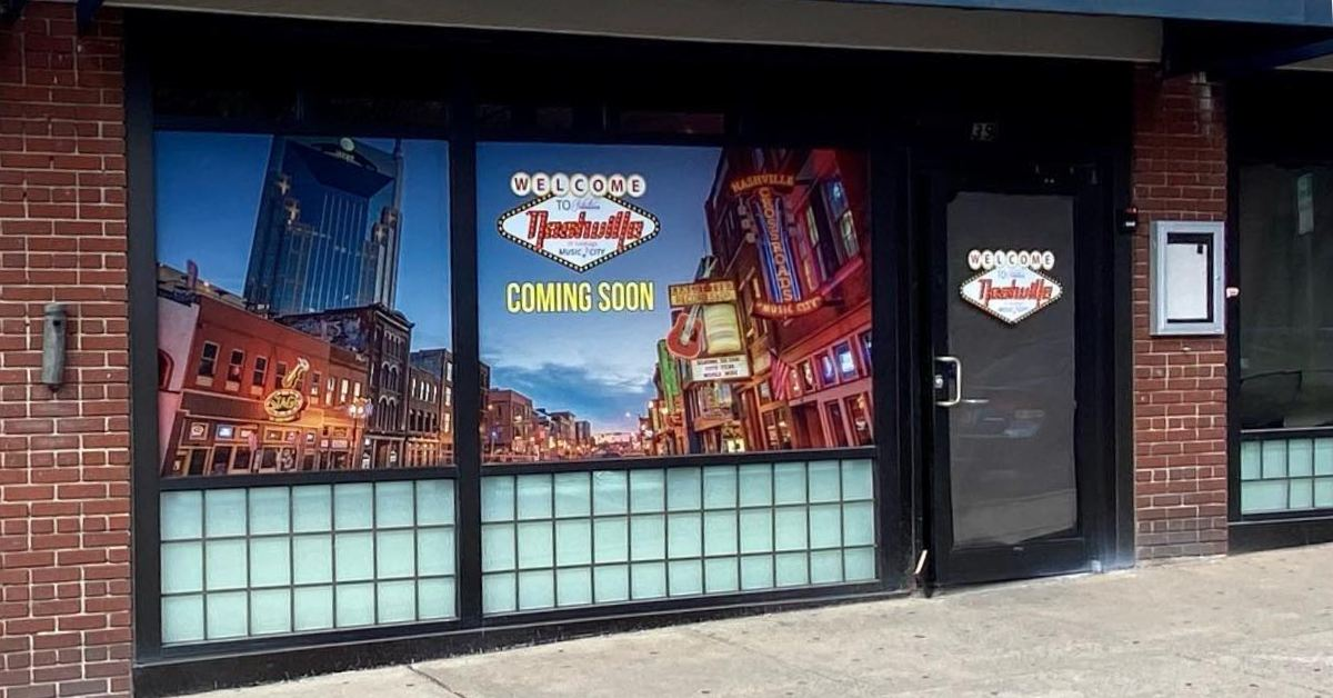 exterior of a building with a nashville of saratoga sign