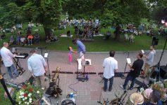 summer concert in a park
