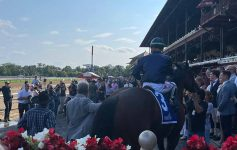 horse and people in winners circle