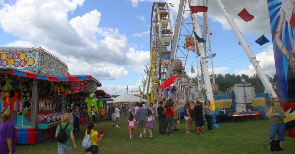 carnival area at a fair